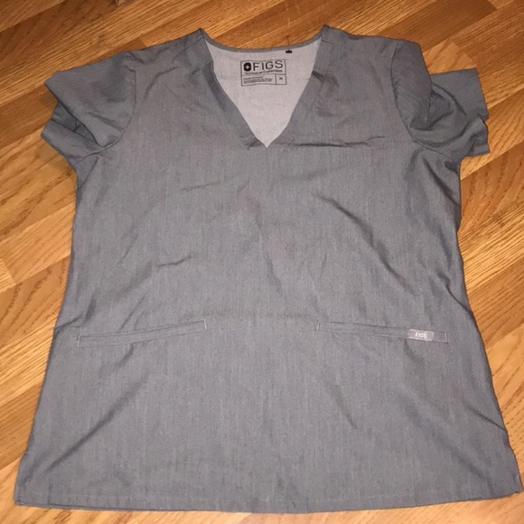 Gray technical connection figs scrub set m